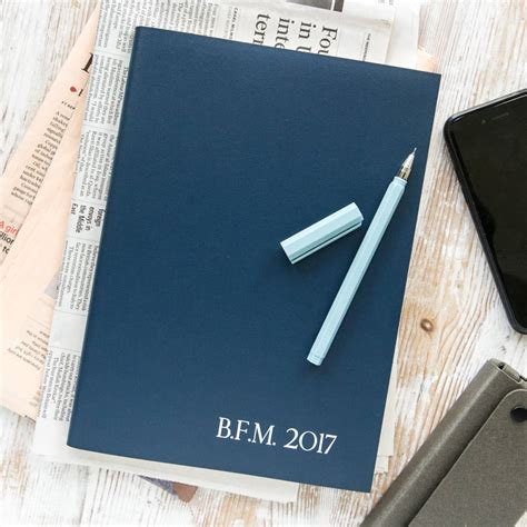 Personalised Desk Diary personalised leather 2017 desk diary by begolden