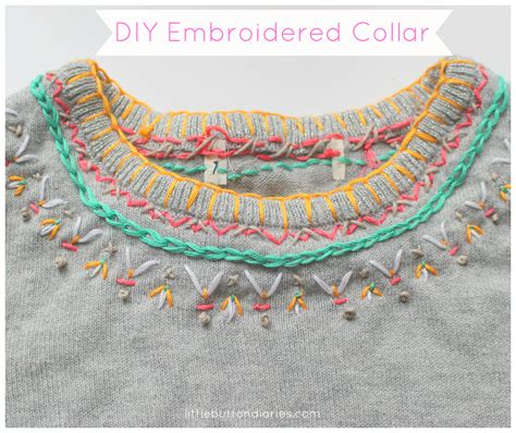 embroidered collar embroidered collar button diaries