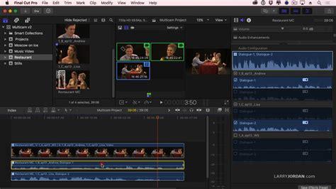 final cut pro multicam 223 multicam editing in final cut pro x larry jordan