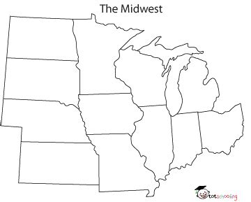 blank midwest map 28 midwest states and capitals blank map gallery for gt