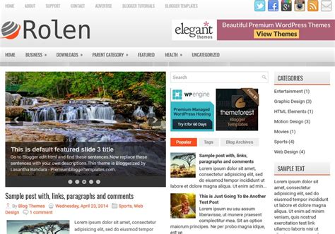 free blogger themes one column rolen 3 columns blogger template 2015 free themes