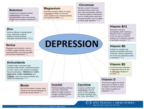 Estrogen Detox Interactions With Psychiatric Medications by Spectracell S Nutritional Correlation Chart On Depression