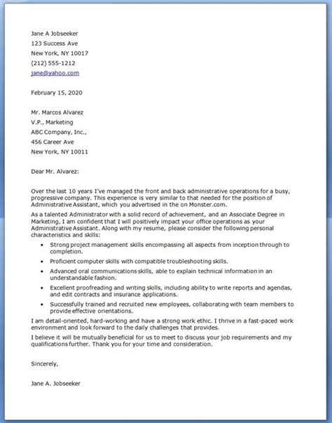 Cover Letter Exles 16 Year Best 20 Resume Cover Letter Exles Ideas On Resume Cover Letters Employment