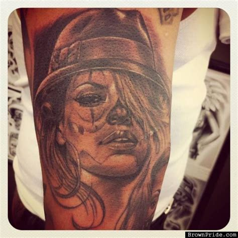 gangster girl tattoo gangsta clown tattoos www imgkid the image kid has it