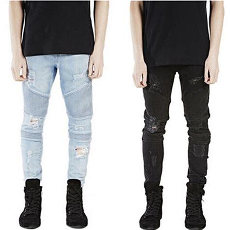 Biker Moto Jeans Men | aliexpress com buy 2016 mens ripped rider biker jeans