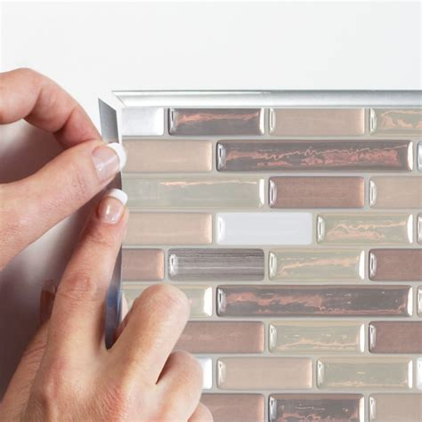 muretto durango peel stick smart tiles backsplash