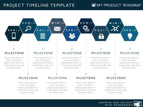 Nine Phase Project Timeline Template Powerpoint Project Timeline Template