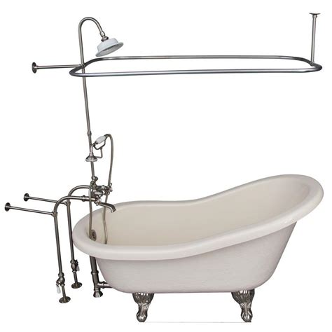 ball and claw bathtub barclay products 5 ft acrylic ball and claw feet slipper