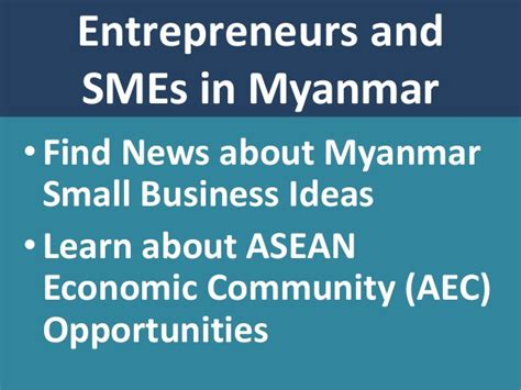 Small Work From Home Business Ideas Myanmar Small Business Ideas And Opportunities