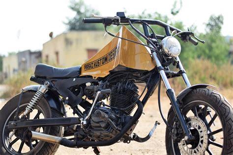 modified hero honda cbz  prashz custom design