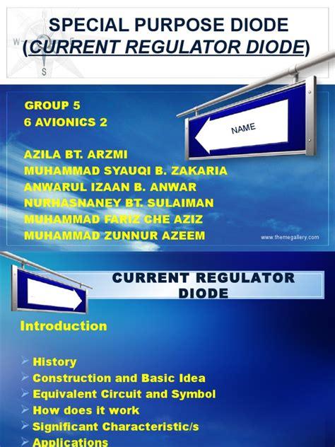 how does a current regulator diode work current regulator diode