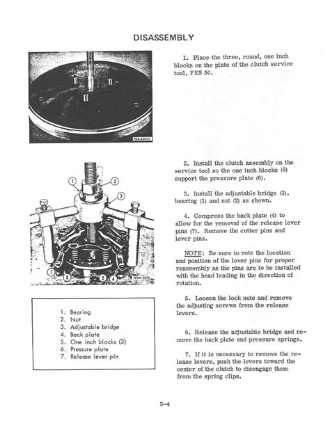 section five section 5 engine clutch