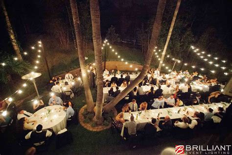 Market Lights And Vintage Edison String Lights At Outdoor Outdoor Wedding Lights String