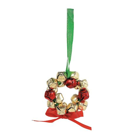 making christmas bell ornaments metal jingle bell wreath ornaments craft kit trading