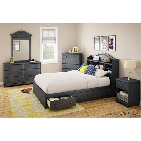 summer breeze black collection master bedroom bedrooms south shore summer breeze full mates bed in blueberry