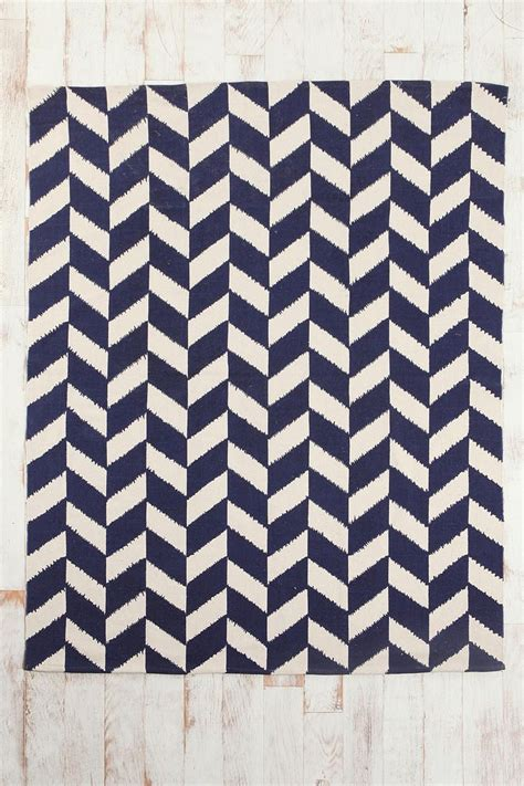 navy white chevron rug assembly home herringbone printed rug outfitters navy rug and