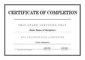 Class Completion Certificate Template by Certificate Of Completion 004