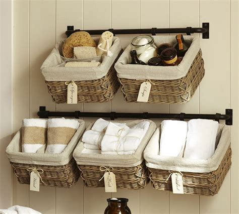 hanging baskets for bathroom learning to love my small laundry room tidbits twine