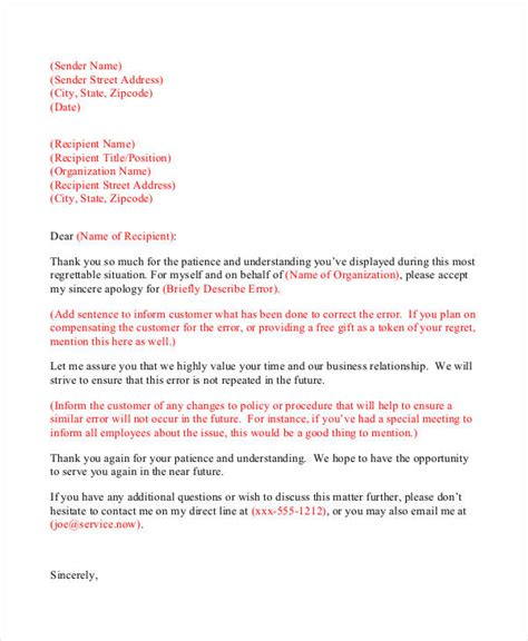 Apology Letter Format Pdf Apology Letters To Customer Exle Of Apology Letter To