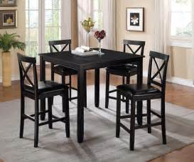 rush seat 5 piece counter height dining set black and natural search