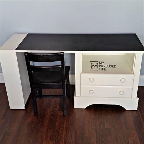 diy chalkboard desk kid s chalkboard desk using repurposed nightstand my