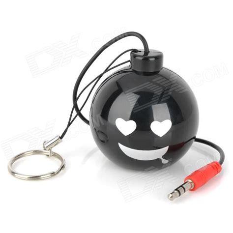 Speaker Mini Bomb mini smiling bomb style rechargeable speaker black 3 5mm 70cm cable free