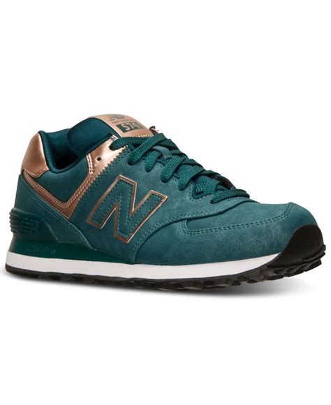 Sneakers Cewe New Balance new balance s 574 precious metals casual sneakers from finish line in green lyst