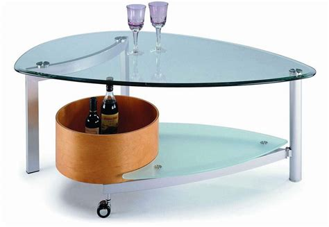 contemporary design glass coffee table in beech or walnut