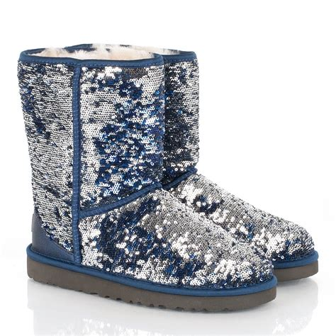 sparkle ugg boots ugg 174 navy classic sparkle women s flat boot