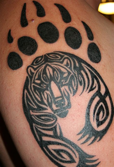 tribal paw tattoo gallery of paw pictures on animal picture society