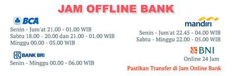 bca jam offline jadwal offline bank geraibayar com
