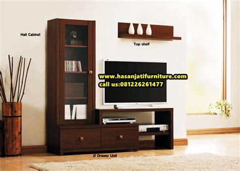 Desain Lemari Tv Kayu | lemari bufet tv kayu jati lemari tv minimalis hasan jati