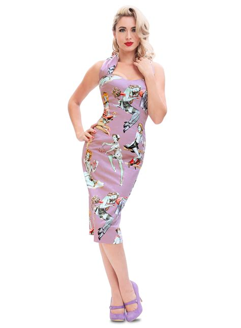 pin up zombie pinup 50s style vintage pencil dress british retro