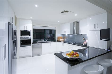 sleek kitchen design black and white sleek kitchen designs interior design ideas