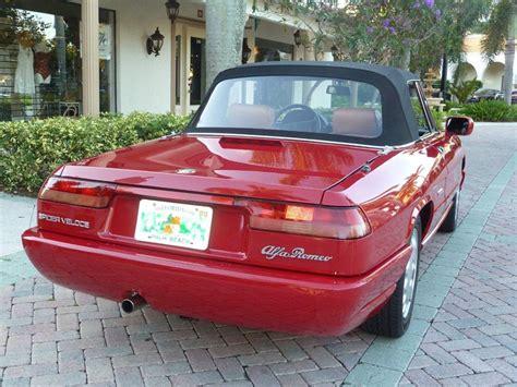 1993 Alfa Romeo Spider For Sale by 1993 Alfa Romeo Spider Veloce Classic Italian Cars For Sale