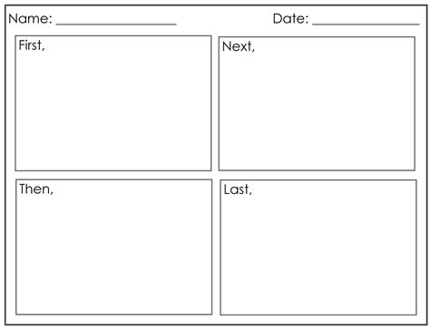four square writing template printable four square