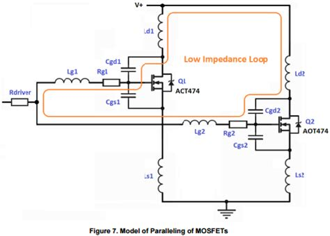 pcb design application note app note paralleling power mosfets in switching