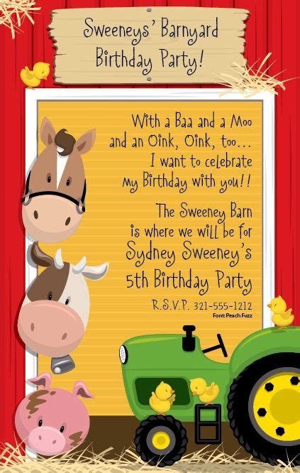 Free Barnyard Party Invitation Templates Partytjie Pinterest Barnyard Party Party Farm Invitation Template