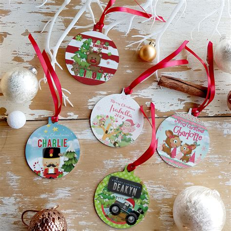 Personalised Decorations by Personalised Tree Ornaments Decorations