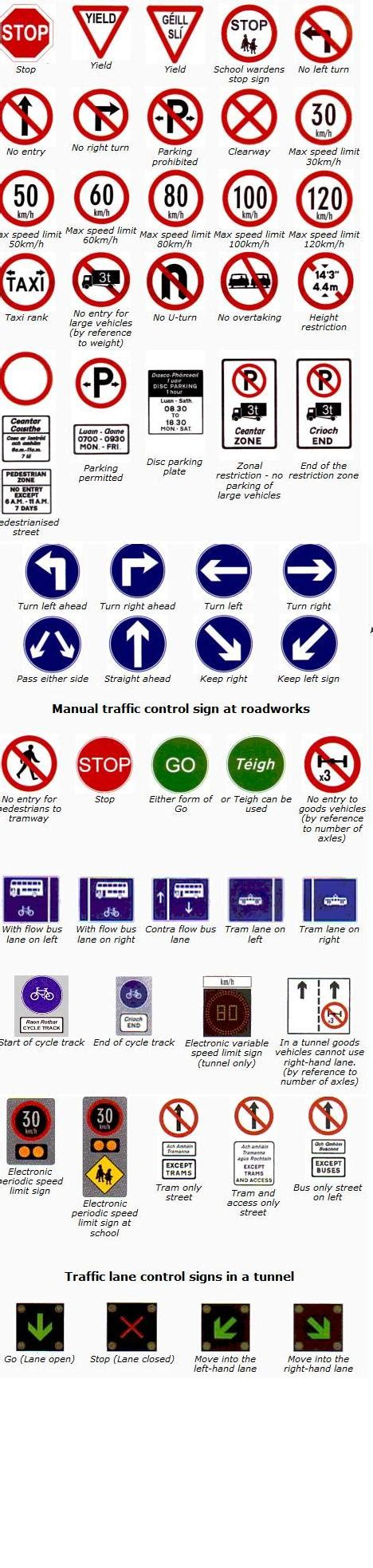 printable irish road signs quizzes sign in oloom