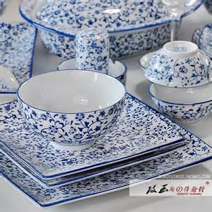 Traditional blue and white porcelain antique rattan unique pottery and