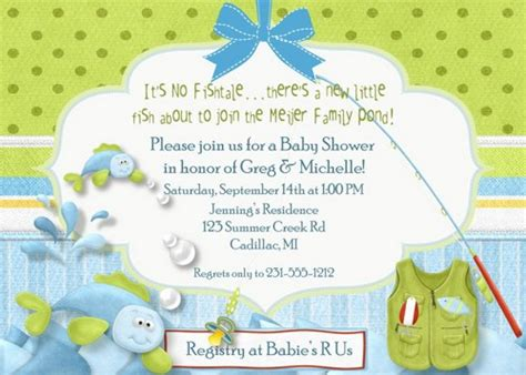 Fishing Themed Baby Shower Invitations baby shower invitation fishing theme baby shower fabpartyprints cards on artfire