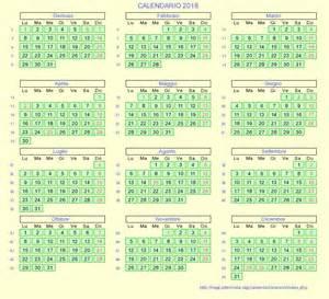 Calendario 2018 Italia Calendario Italiano 2018