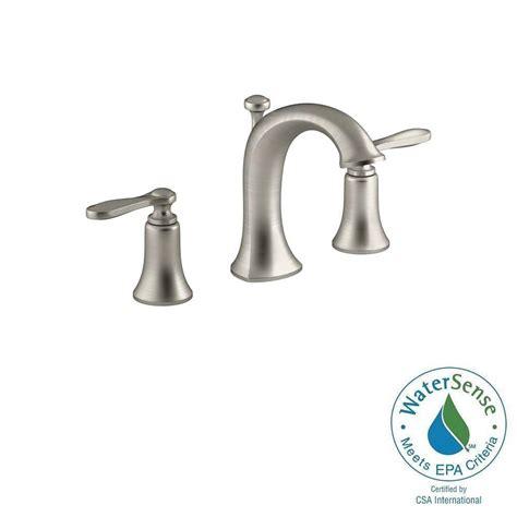 water saving bathroom faucets kohler linwood 8 in widespread 2 handle water saving