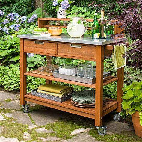 diy outdoor food prep best 25 outdoor serving cart ideas on pinterest garden