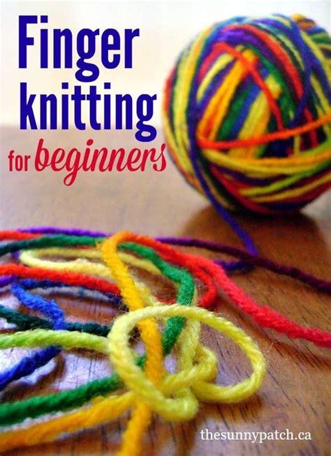 finger knitting tutorial finger knitting for beginners for pictures and kid