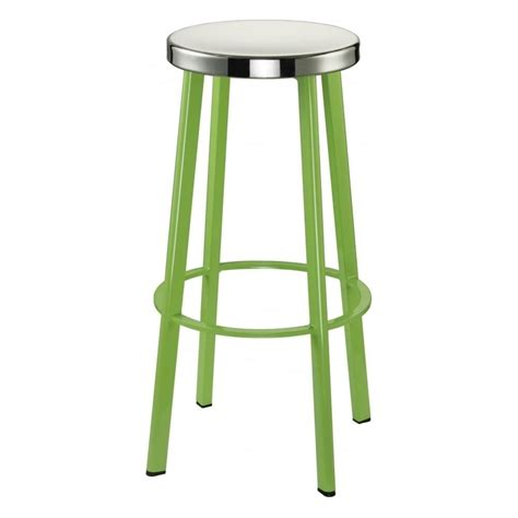 steel bar stool buy lime green contemporary metal bar stool with circular