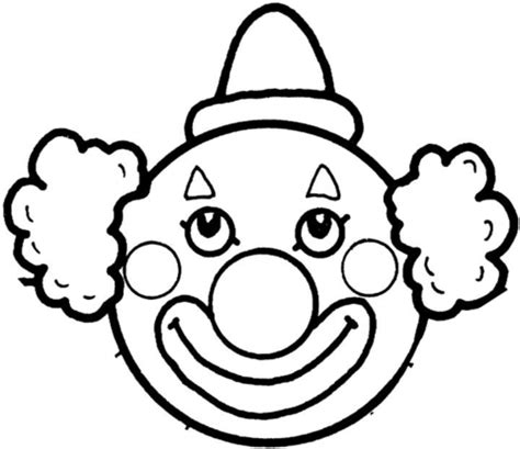 clown s face coloring page free printable coloring pages