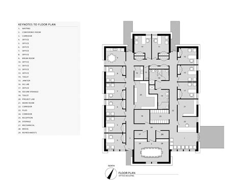 office building floor plan joshua a wright architects
