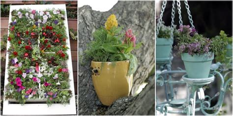 Upcycling Ideas For The Garden Upcycled Planter Ideas Repurposed Garden Pots